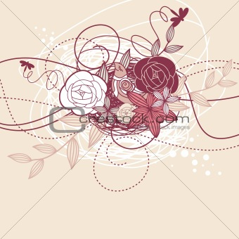 abstract cute card