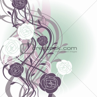 abstract cute floral background