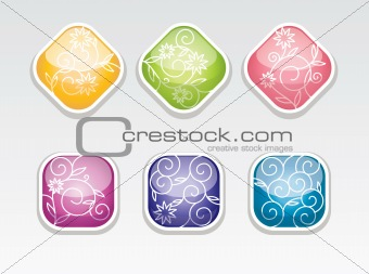 cute vector glossy buttons