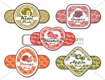 abstract vector different labels