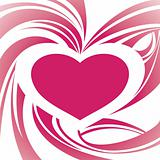 abstract heart frame background