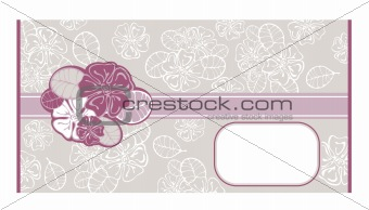 abstract lacy envelope