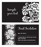 Flower lace, greeting card, space for your text