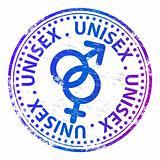 Unisex rubber stamp.