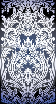 pattern of Luis XIV bedroom