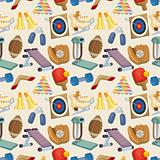 Sports Equipment seamless pattern