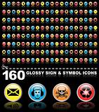 160 symbol icons