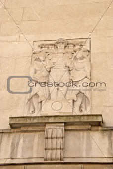 Architectural Detail on the Mersey Tunnel Building