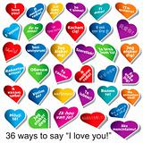 36 ways to say &quot;I love you&quot;