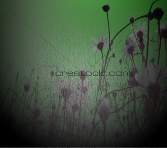 grugy green floral background