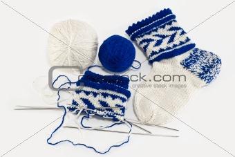 Knitting socks, hobby