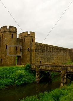 Castle bridge gate