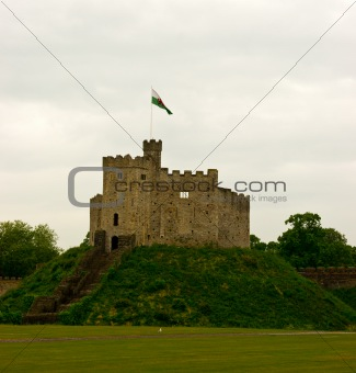 Castle on the hill Cardiff