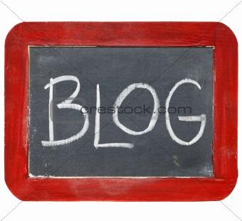 blog blackboard sign
