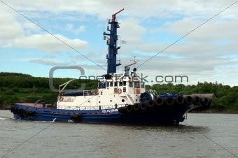 celtic banner river shannon tug boat
