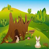 Springtime Easter holiday illustration