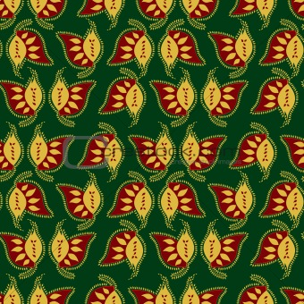 Paisley colorful seamless pattern