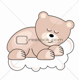 Small  bear sleeping