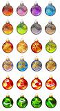 Different christmas glass balls