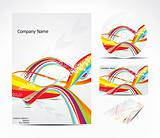 abstract brochure with colorful wave