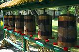 Prayer wheel in Chengde Tibetan Buddhism monastery