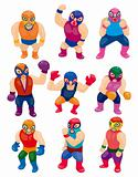 cartoon wrestler icon