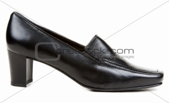 Black leather one loafer