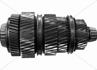 automobile gear on isolated