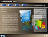 Web site 3d design template 19