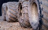 Dirty tractor wheels