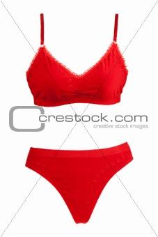 Kit red panties and bra