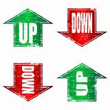 Up and Down Arrows rubber stamps.