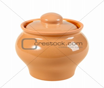 One a closed ceramic pot