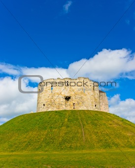 Castle in York Cliffords tower