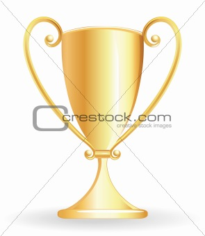 Champion cup - goblet golden