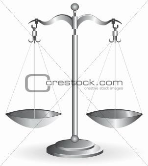Balance scale isolated on white
