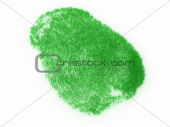Fingerprint from grass