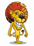 Cartoon smiling lion