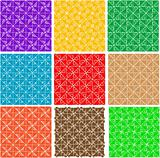 set of ornate seamless pattern background vector