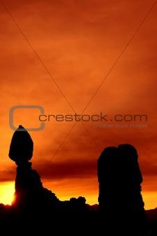 Balanced Rock at dawn