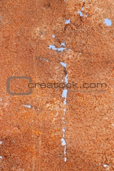 Corrosion of iron sheet
