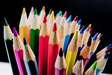 bouquet of colored pencils