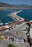 View at the Alanya harbor