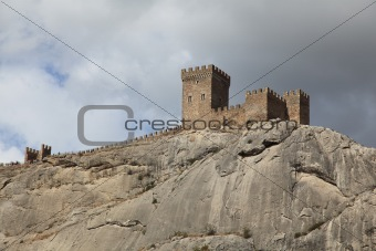Tower of Genoese fortress in Sudak, Crimea