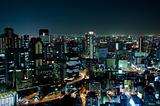 Osaka Skyline at night