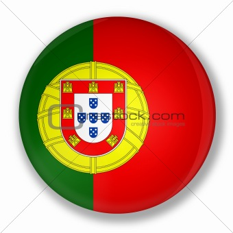 Badge with flag of portugal