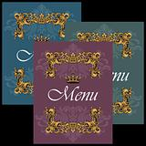 Menu covers set