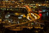City of Portland Light Trails on Marquam Freeway