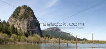 Beacon Rock along Columbia River Gorge