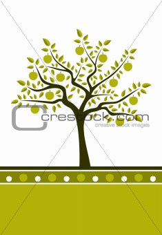 apple tree background
